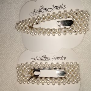(2 for 12) Pearl hair pins